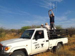 Daten sammeln über Antenne und GPS.